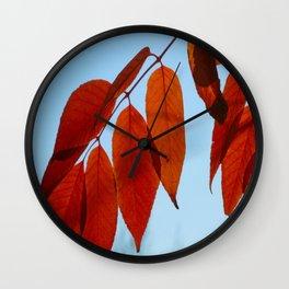 Vermillion Fingers Wall Clock
