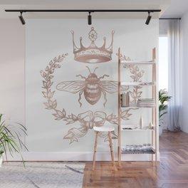 Queen Bee in Rose Gold Pink Wall Mural