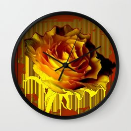 Yellow Rose of Texas Western Style Modern Abstract Wall Clock
