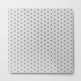 Geometric Pattern Light Metal Print