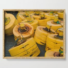 Yellow gathering Serving Tray
