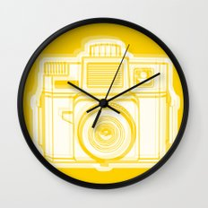 I Still Shoot Film Holga Logo - Reversed Yellow Wall Clock