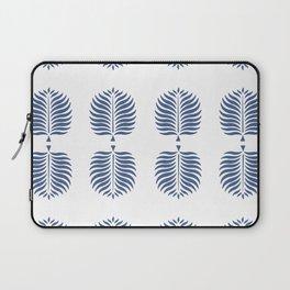 TROPICAL PALMS . WHITE + BLUE Laptop Sleeve