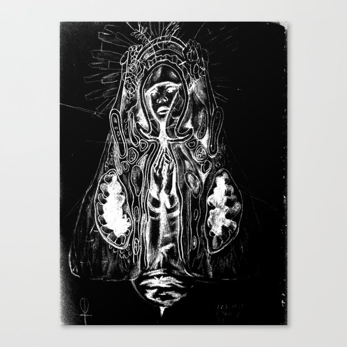 Black. Fly. Maria. Canvas Print