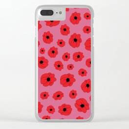 Mauve Poppy Clear iPhone Case