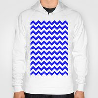 chevron Hoodies featuring Chevron (Blue/White) by 10813 Apparel