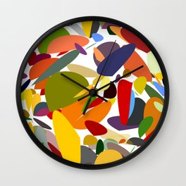 Colorful pebbles Wall Clock