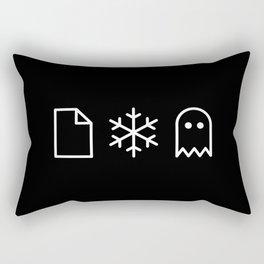 Paper, Snow, A Ghost. Rectangular Pillow