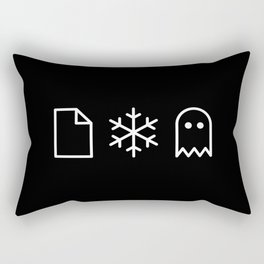 Paper, Snow, A Ghost. Rectangular Pillow