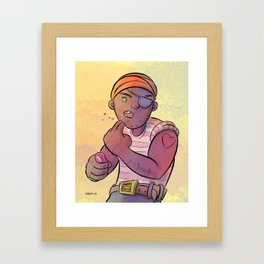 Stowaway Pirate Framed Art Print