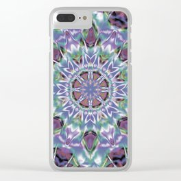 Abstract Flower AA YY QQ Clear iPhone Case