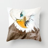study Throw Pillows featuring Study by Caballos of Colour