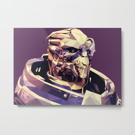 Facets of Garrus Metal Print