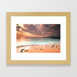 Cannes La Bocca Beach  Framed Art Print
