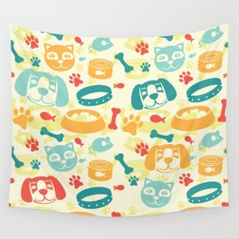 Pet Lovers Wall Tapestry