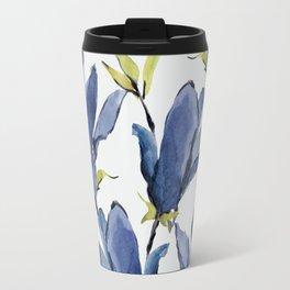 Blue Flowers 3 Travel Mug