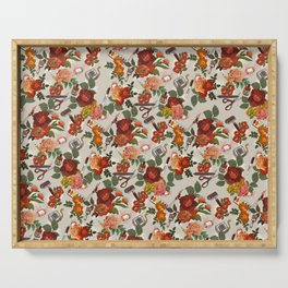Floral Pattern (art supplies) Serving Tray