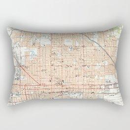 Vintage Map of Phoenix Arizona (1952) Rectangular Pillow