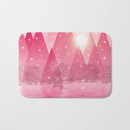 Magic winter pink Bath Mat