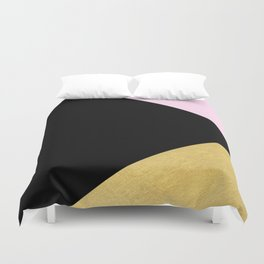 Color Block Glam Triangles Duvet Cover
