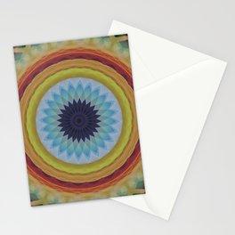 Mandala with blue flower Stationery Cards