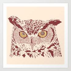 Peering Owl Art Print
