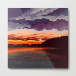 Horizon lake Metal Print