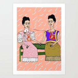 The Two Fridas Art Print