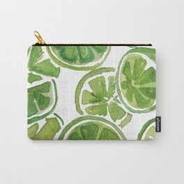 Watercolor LIMES Carry-All Pouch