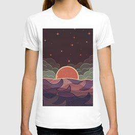 MOON WAVE NIGHT T-shirt