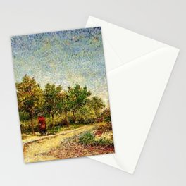Corner in Voyer-d'Argenson Park at Asnières by Vincent van Gogh Stationery Cards