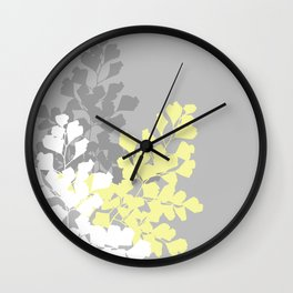 Graphic Shadow Ferns Wall Clock