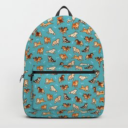 shibas in blue Backpack