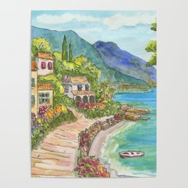Seaside Village Poster