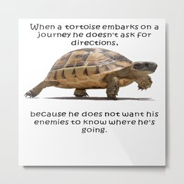 When A Tortoise Embarks On A Journey African Proverb Metal Print