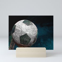 Soccer art print work vs 1 Mini Art Print