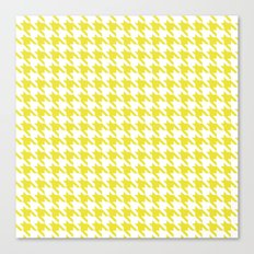 Sunny Houndstooth Canvas Print