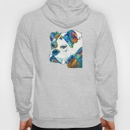 Colorful English Bulldog Art By Sharon Cummings Hoody