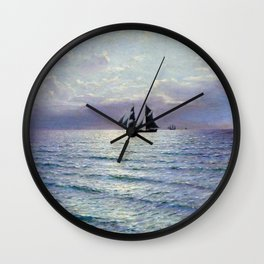 Sea 1898 By Lev Lagorio | Reproduction | Russian Romanticism Painter Wall Clock