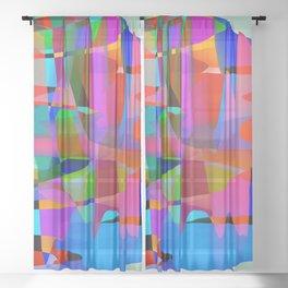 Multi Colorfall Sheer Curtain