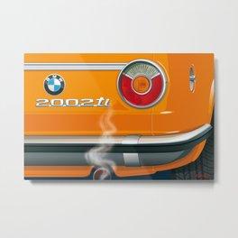 BMW 2002 ti Alpine from 1968 Metal Print