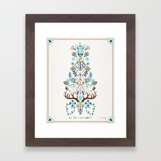 La Vie & La Mort – Turquoise and Brown Framed Art Print