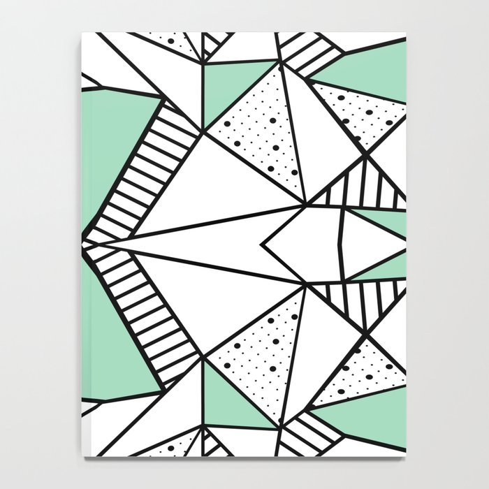 Ab Lines and Spots Mint Notebook