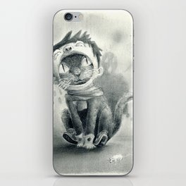 Cat with Boy Hat iPhone Skin