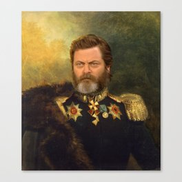 Nick Offerman Classical Painting Photoshop Canvas Print