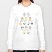 dia de los muertos Long Sleeve T-shirts featuring Dia de los muertos by ewdondoxja