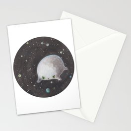 Blob floating in space Stationery Cards