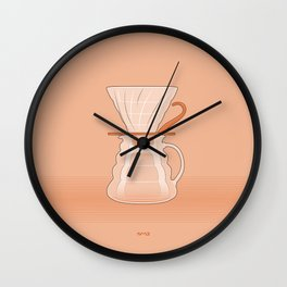 Coffee Maker Series - Pour-over Dripper Wall Clock