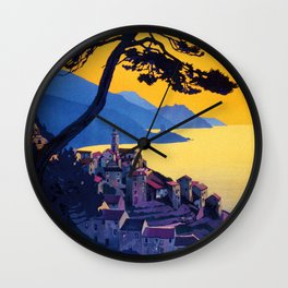 Le Tour Du Cap Corse, French Travel Poster Wall Clock