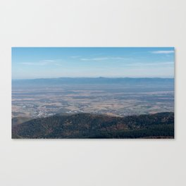View at the mountains Canvas Print